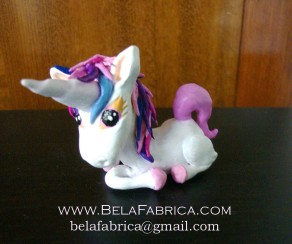 Clay Figurine Cute Unicorn By BelaFabrica